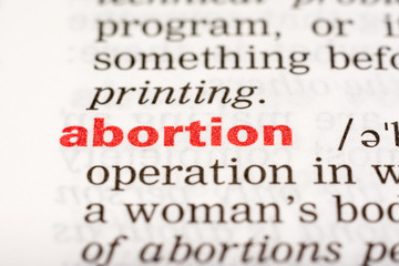 Abortion Word Definition In Dictionary Close Up