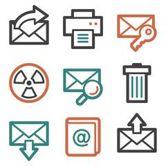 E-mail web icons, contour series
