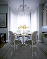 Classic interior dining room
