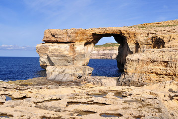 Azure window of Gozo island,Malta