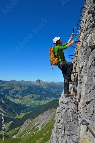 Papiers peints Alpinisme Klettern am Klettersteig