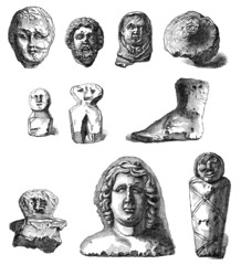 Gallo-Roman Archeological Objects : Ex-Votos - Antiquity