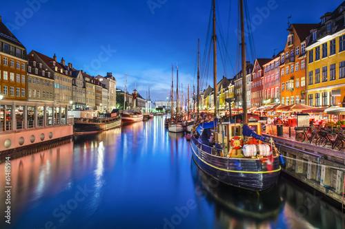 Poster Copenhagen, Denmark at Nyhavn Canal