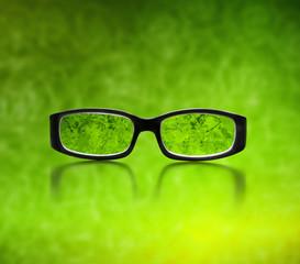 Brille im Grünen