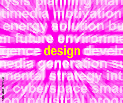 Design Word Shows Innovation Creativity And Developing