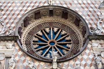 window of Colleoni chapel in Bergamo