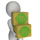Ten Percent Off Boxes Show 10 Lower Prices