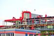 Rohrleitungen im Chemiewerk // pipelines in industry factory