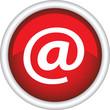 Круглая векторная иконка с изображением электронной почты