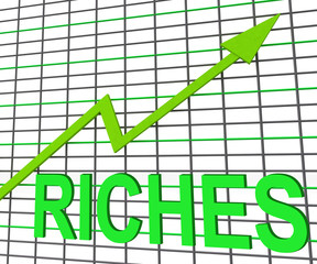 Riches Chart Graph Shows Increase Cash Wealth Revenue