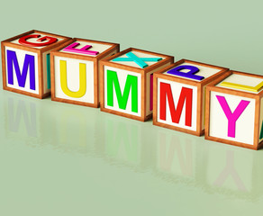 Mummy Blocks Mean Mum Parenthood And Children