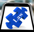Law Smartphone Means Justice And Legal Information Online