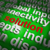Solution Word Cloud Shows Achievement Resolution Solving And Sol