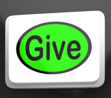 Give Button Means Bestowed Allot Or Grant