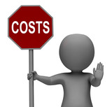 Costs Stop Sign Means Stopping Overhead Expenses