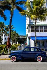 Classic American Car on South Beach, Miami.