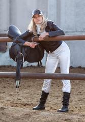 Rider with ammunition and horseshoe