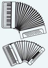 Music instruments. Accordion
