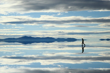 landscape at the Salar de Uyuni, Bolivia