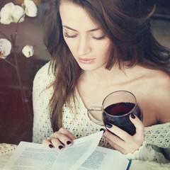 Beautiful Woman with Tea
