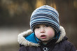 kleiner Junge trauriger Blick