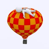 Dreaming on hot air baloon