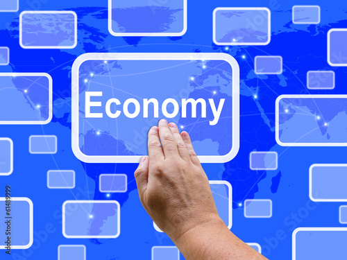 Economy Touch Screen Means Economic Saving Fiscal System