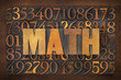 math (mathematics) word
