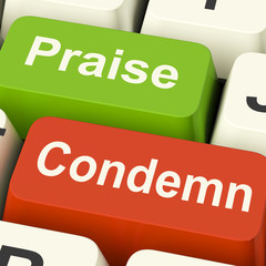 Condemn Praise Keys Means Appreciate or Blame