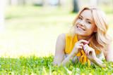 Woman on grass