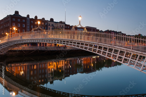 Perfect Ha'penny Bridge Reflection