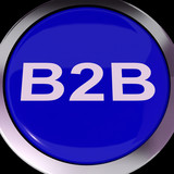 B2b Button Means Business Trade Or Deal