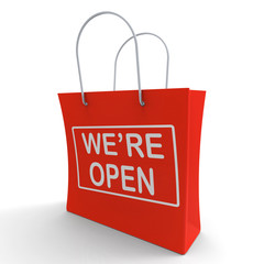 We're Open Shopping Bag Shows New Store Launch