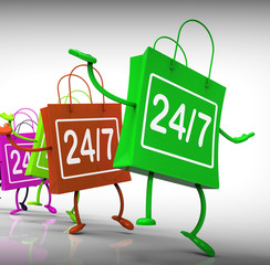 Twenty-four Seven Bags Show Shopping Availability and Open Hours