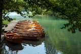 Fototapeta Boats at Plitvice Lakes National Park, Croatia