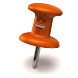 Fun orange thumbtack