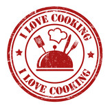 I love cooking stamp