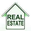 Real Estate House Shows Selling Property Land Or Buildings