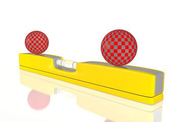 Wasserwaage, Konzept Ballance halten