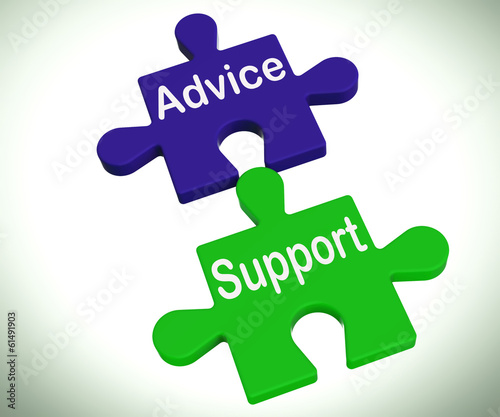 Advice Support Puzzle Means Help Assistance And FAQ
