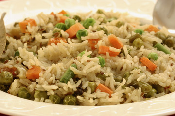 Vegetable Biryani - A popular Indian veg dish