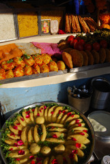 Chaat stall on the streets of Rajasthan.