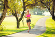 Woman running in the park