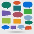 Paper Speech Bubble glossy, Vector Illustration