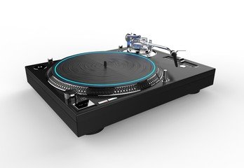 DJ Turntable Blue