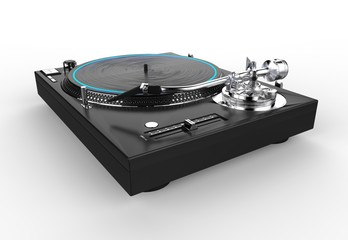 DJ Turntable Side View