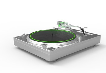 DJ Turntable Metallic