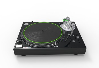 DJ Turntable Green Light