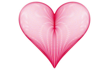 Detailed Cube Pink Heart
