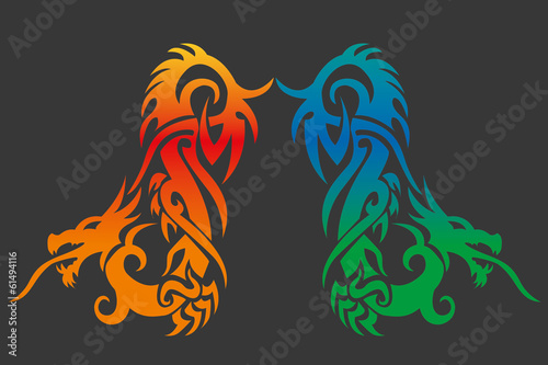 Asian Dragon (Vector fully editable and resizable)